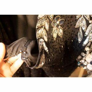 Stenay Dresses - Vintage Embellished Black Silk Dress open Sz 14